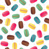 Безшовная картина с вкусными donuts Стоковое Изображение