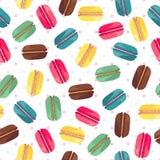 Безшовная картина с вкусными donuts Стоковая Фотография