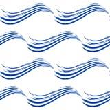 Безшовная картина с волнами нарисованными рукой Стоковое Изображение