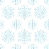 Безшовная картина с геометрическими снежинками Стоковая Фотография
