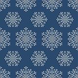 Безшовная картина с геометрическими снежинками Стоковое Фото