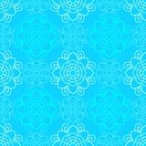 Безшовная картина с геометрическими цветками bluets Стоковые Изображения RF