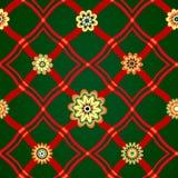 Безшовная картина с геометрическим орнаментом иллюстрация штока