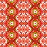 Безшовная картина с геометрической вышивкой Стоковые Изображения RF