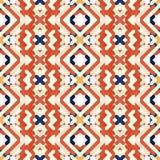 Безшовная картина с геометрической вышивкой Стоковое фото RF