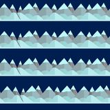 Безшовная картина с горой Стоковое Изображение RF