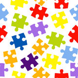 Безшовная картина с головоломками цвета Стоковое фото RF