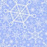 Безшовная картина с графическими снежинками Стоковые Изображения RF