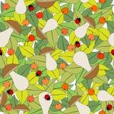 Безшовная картина с грибами иллюстрация штока