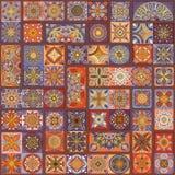 Безшовная картина с декоративными мандалами Винтажные элементы мандалы цветастая заплатка Стоковое Изображение
