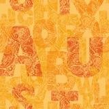 Безшовная картина с декоративными письмами Современное backgrou вектора Стоковые Изображения RF
