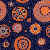 Безшовная картина с декоративными цветками Стоковое Изображение