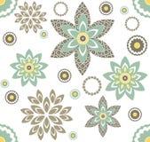 Безшовная картина с декоративными цветками иллюстрация штока