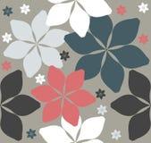 Безшовная картина с декоративными цветками иллюстрация вектора