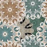 Безшовная картина сделанная в орнаменте винтажного стиля филигранном пастельном Стоковое Изображение