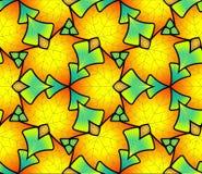 Безшовная картина сделанная из покрашенных листьев Стоковые Изображения RF