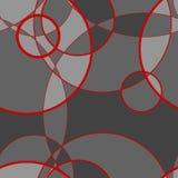 Безшовная картина сделанная круга, предпосылки вектора Стоковое Изображение