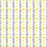 Безшовная картина с желтыми точками также вектор иллюстрации притяжки corel Стоковая Фотография