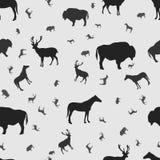 Безшовная картина с животными Стоковая Фотография RF