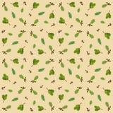 Безшовная картина с жолудями и листьями дуба Стоковая Фотография RF