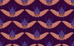 Безшовная картина с жуком Голиафа r стоковые изображения rf