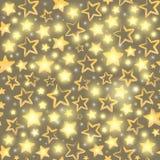 Безшовная картина с звездами золота Стоковые Изображения RF