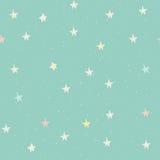 Безшовная картина с звездами Стоковое Изображение RF