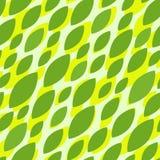 Безшовная картина с зелеными листьями иллюстрация штока