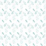 Безшовная картина с зелеными травами на белой предпосылке Стоковое Изображение