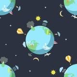 Безшовная картина с землей Стоковое фото RF
