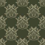 Безшовная картина с змейками Иллюстрация вектора для дизайна сказочного Стоковая Фотография RF
