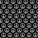 Безшовная картина с знаками мира Предпосылка для ткани ребенк и взрослого, пижамы, бумажной печати, чешет другой дизайн hippie Стоковое Фото