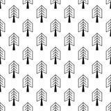 Безшовная картина с значками хода плана с tress Стоковые Изображения