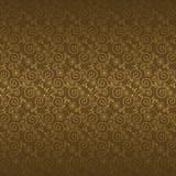 Безшовная картина с золотыми цветками иллюстрация вектора