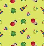 Безшовная картина с игрушками детей Стоковые Изображения RF