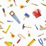 Безшовная картина с инструментами для ремонта Стоковые Изображения