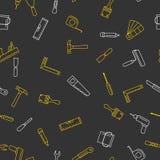 Безшовная картина с инструментами для ремонта Стоковое Фото