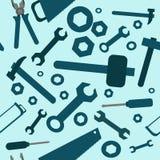Безшовная картина с инструментами Стоковая Фотография