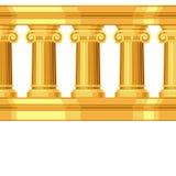 Безшовная картина с ионным античным греком Стоковое фото RF