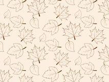 Безшовная картина с лист, абстрактная текстура лист, бесконечная предпосылка Стоковое Изображение