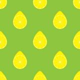 Безшовная картина с иллюстрацией вектора лимонов Стоковые Изображения