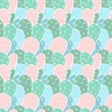 Безшовная картина с кактусом Стоковые Фото