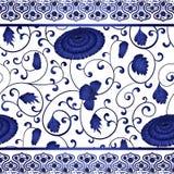 Безшовная картина с китайской хризантемой орнамента Стоковое Изображение