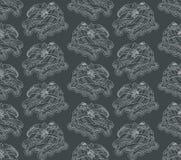 Безшовная картина с коньками ролика на серой предпосылке Стоковое Изображение