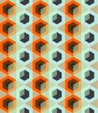 Безшовная картина с косоугольником Иллюстрация вектора