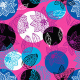 Безшовная картина с красивейшими цветками Стоковое Изображение RF