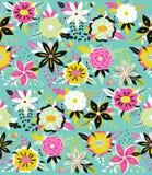 Безшовная картина с красивейшими цветками Стоковая Фотография