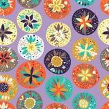 Безшовная картина с красивейшими цветками Стоковое Изображение