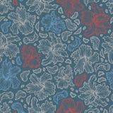 Безшовная картина с красивыми цветками плана радужки Стоковое Изображение RF
