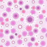 Безшовная картина с красивыми цветками иллюстрация вектора